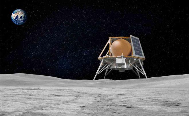 Team Indus Moon Lander illustration