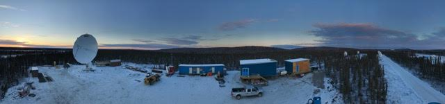 A ground station in Inuvik under construction in October 2016