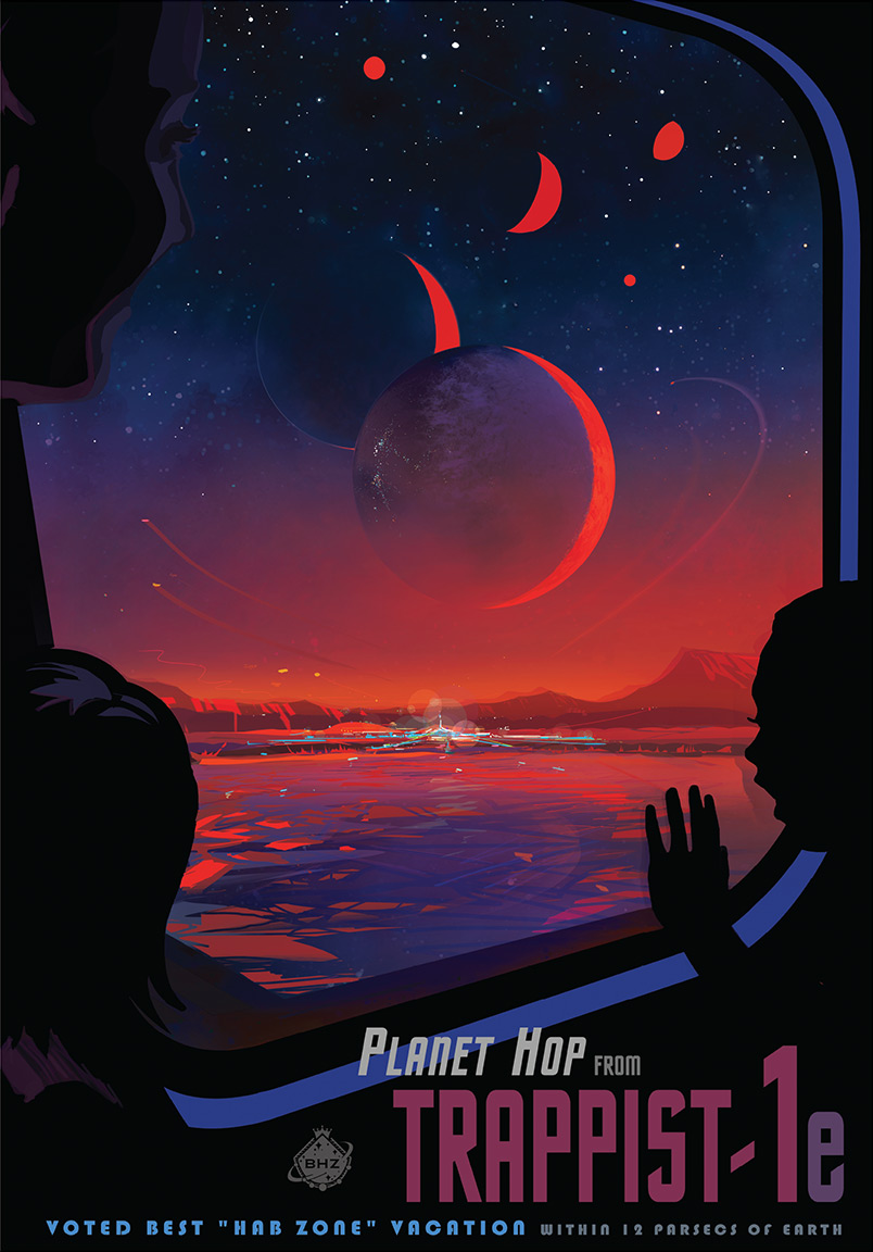 NASA TRAPPIST-1 Travel Poster