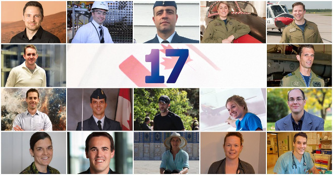The 17 final astronaut candidates