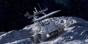 Artists illustration of the Artemis Junior Rover built by Neptec with ODG  as a subcontractor