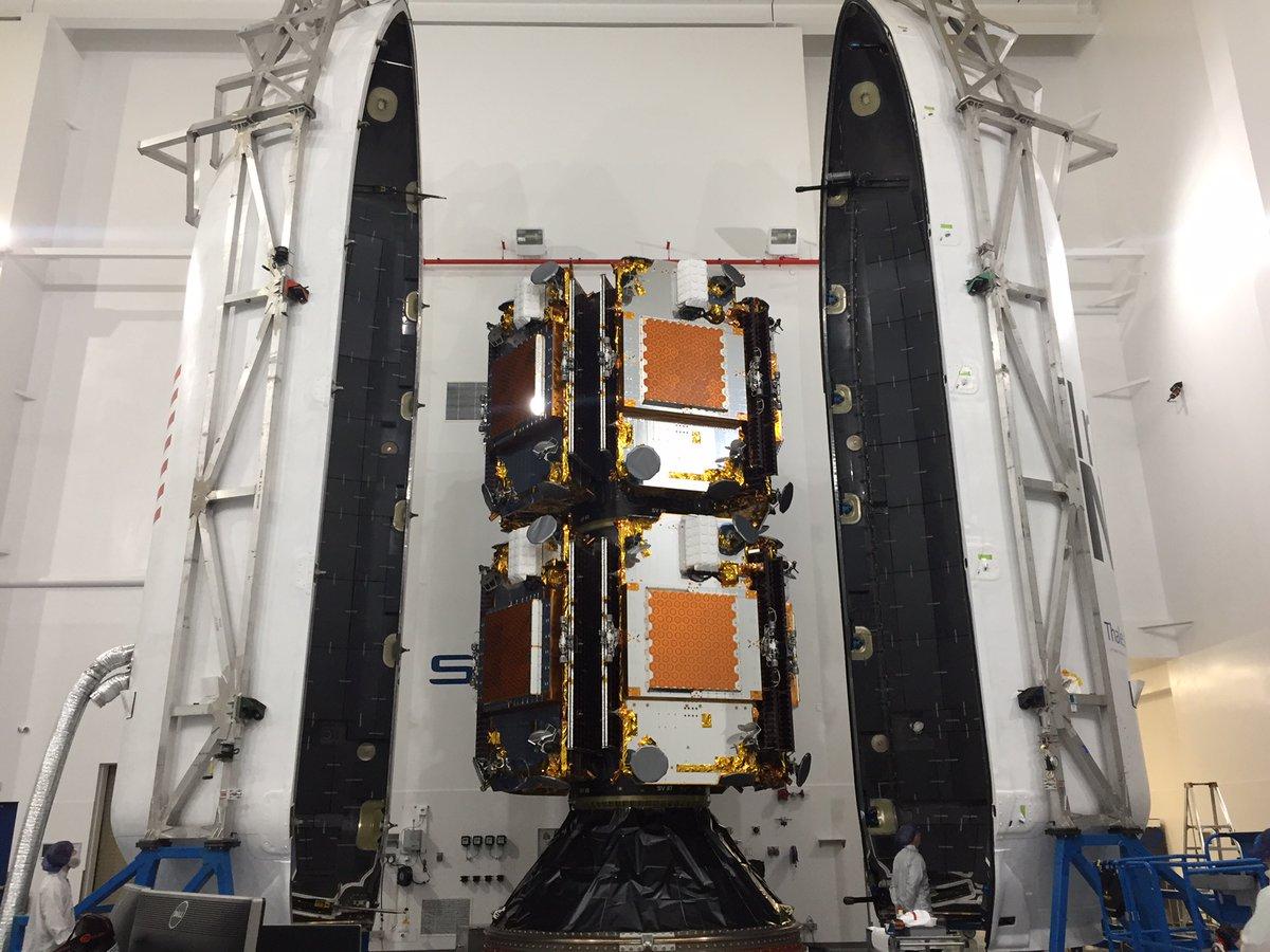 Iridium Next satellite in the fairing