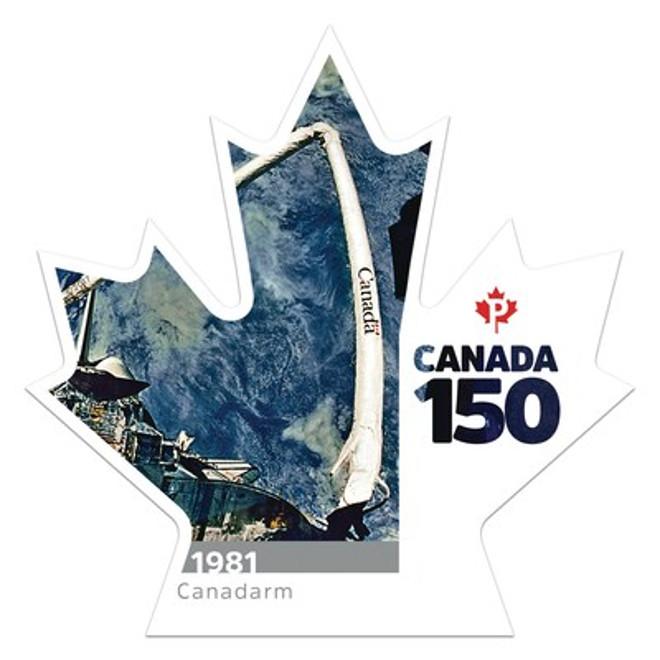 Canada 150 - Canadarm stamp