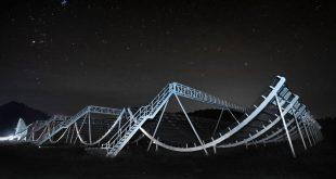 CHIME Telescope at night.