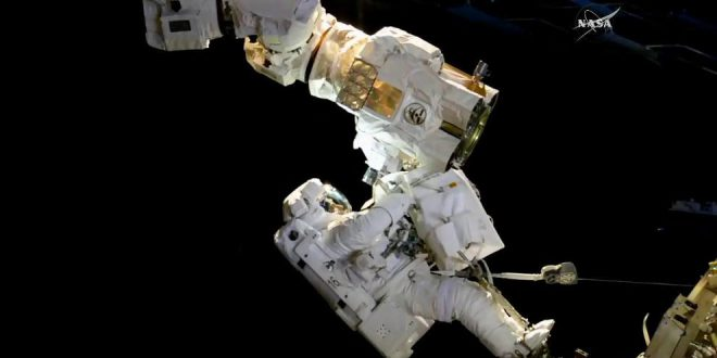 Canadarm2 Latching End Effector as seen on the October 10th, 2017 spacewalk