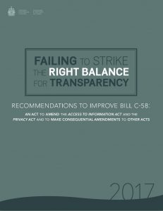 Recommendations to improve bill c-58