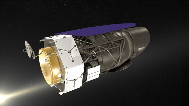 Concept image of WFIRST in space.