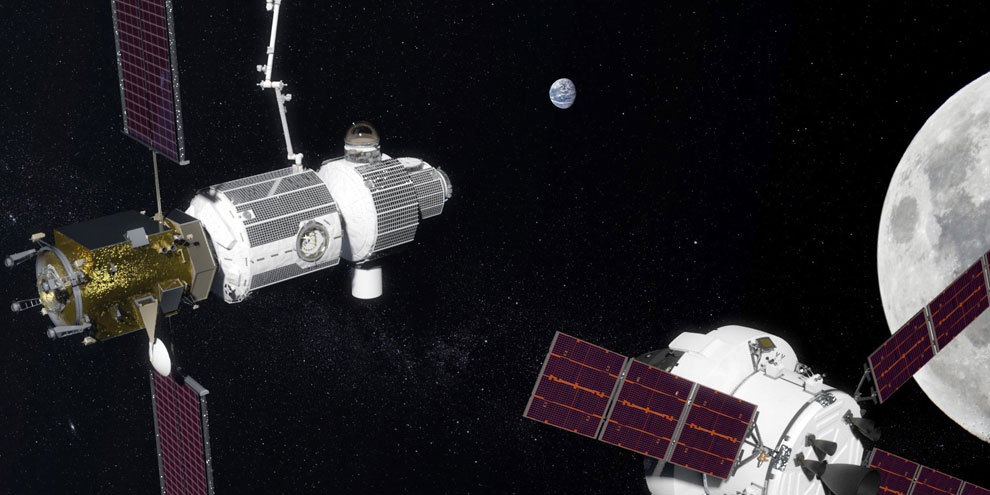 Artist illustration of NASA NASA's Deep Space Gateway concept