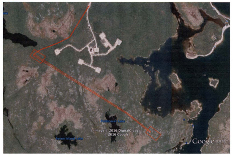 MLS spaceport development area in Nova Scotia