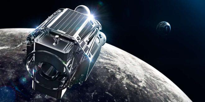 Artist illustration of ispace orbiter headed to the moon