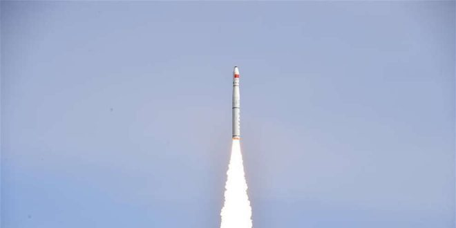 Launch on January 2018 of China's Long March 11 carrying the Kepler Communications satellite.