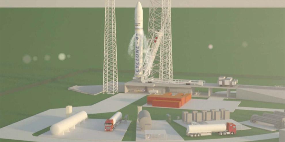MLS artist rendering of the vertical launch area