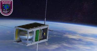 Artist rendering of McMaster University NEUDOSE CubeSat, a participant in the Canadian CubeSAt Project