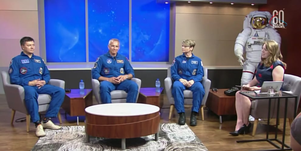 David Saint Jacques at the September 6, 2018 NASA press conference