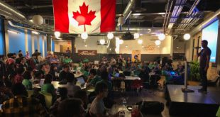 Part of the action at Space Apps Waterloo, host of the largest group of students participating in Canada