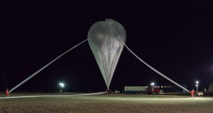 Stratospheric balloon launched from the base in Timmins, Ontario