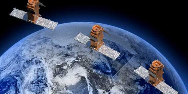 RADARSAT Constellation Mission artist rendering
