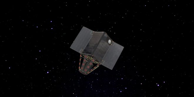 Artist rendering of a Helios Wire Pathfinder satellite