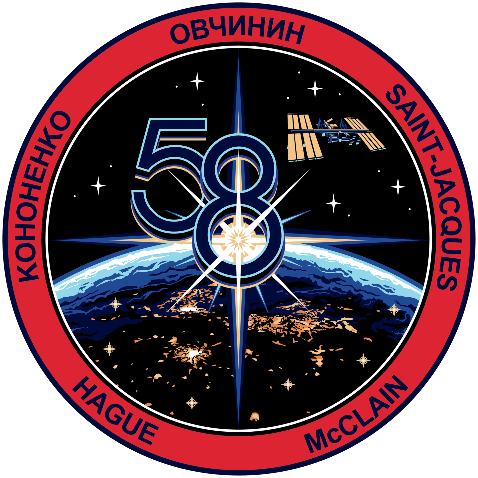 ISS Expedition 58 Patch