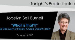 Jocelyn Bell Burnell lecture
