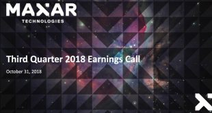 Maxar Q3 Results 2018