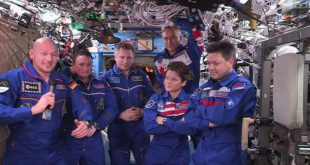 ISS Expedition 57 change of command to Expedition 58 commander Oleg Kononenko