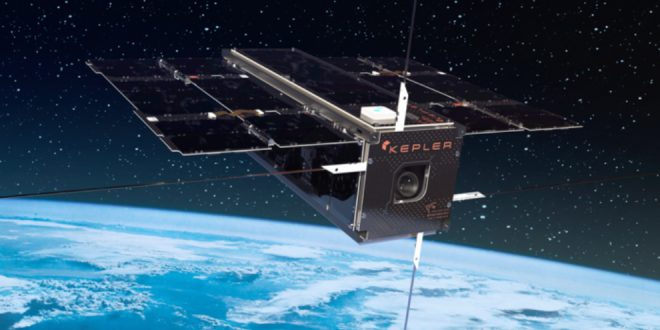 Kepler Communications artist illustration of one of their satellites
