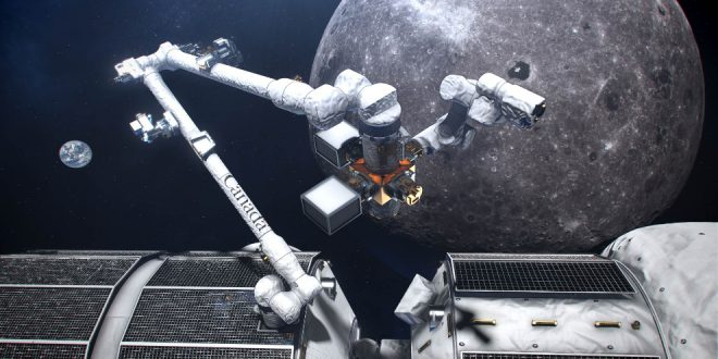 An artist's concept of Canada's smart robotic system, Canadarm3