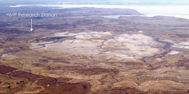 Haughton Crater, Devon Island, high Arcitc, Canada, a Mars on Earth analog.