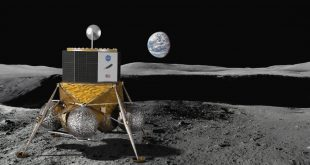 Artist illustration of a lander on the moon