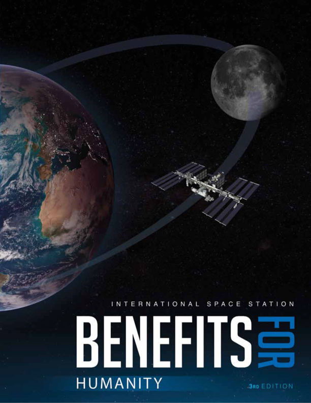 International Space Station Benefits for Humanity book cover.