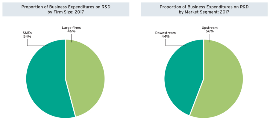 Proportion of Business Expenditures on R&D