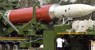 India Anti-Satellite (ASAT) rocket being prepared for launch.