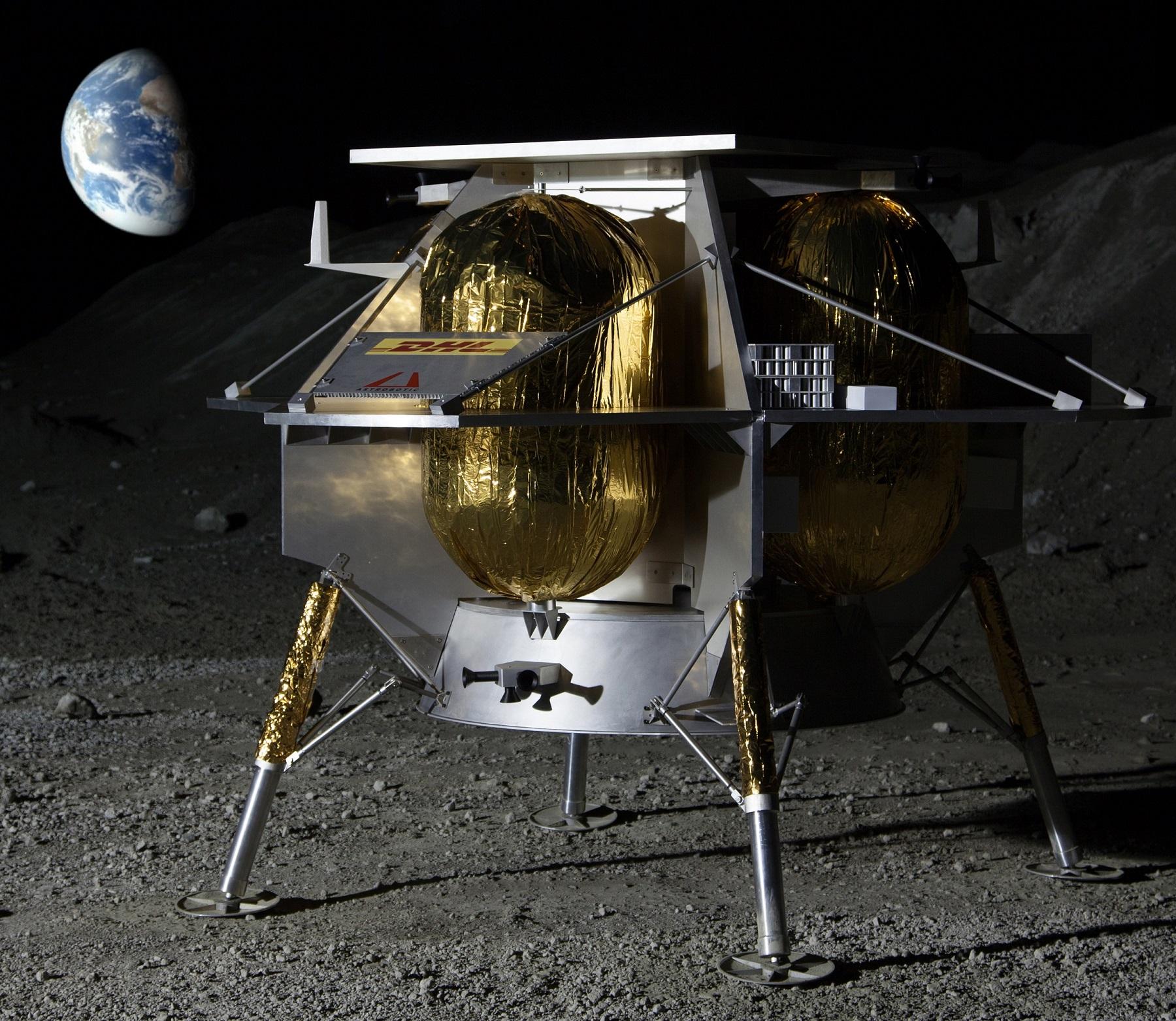 Astrobiotic lunar lander