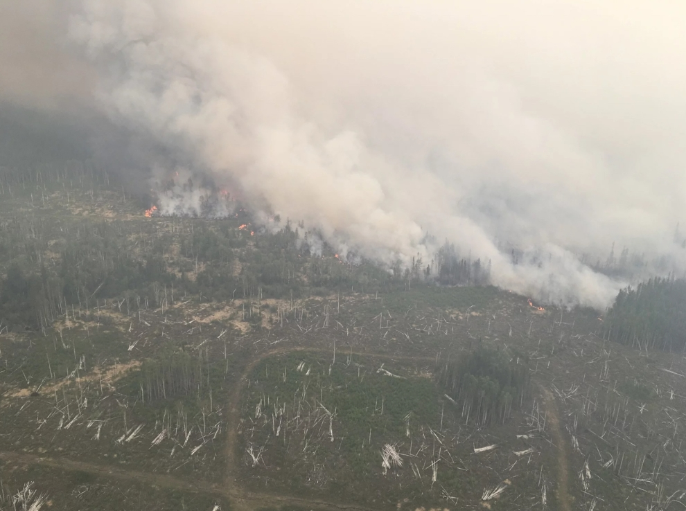 Fire activity on the north end of the Chuckegg Creek fire, May 28, 2019.