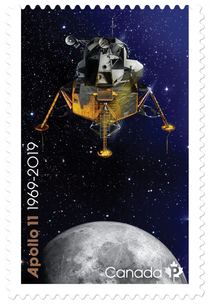 Apollo 11 Lunar lander stamp