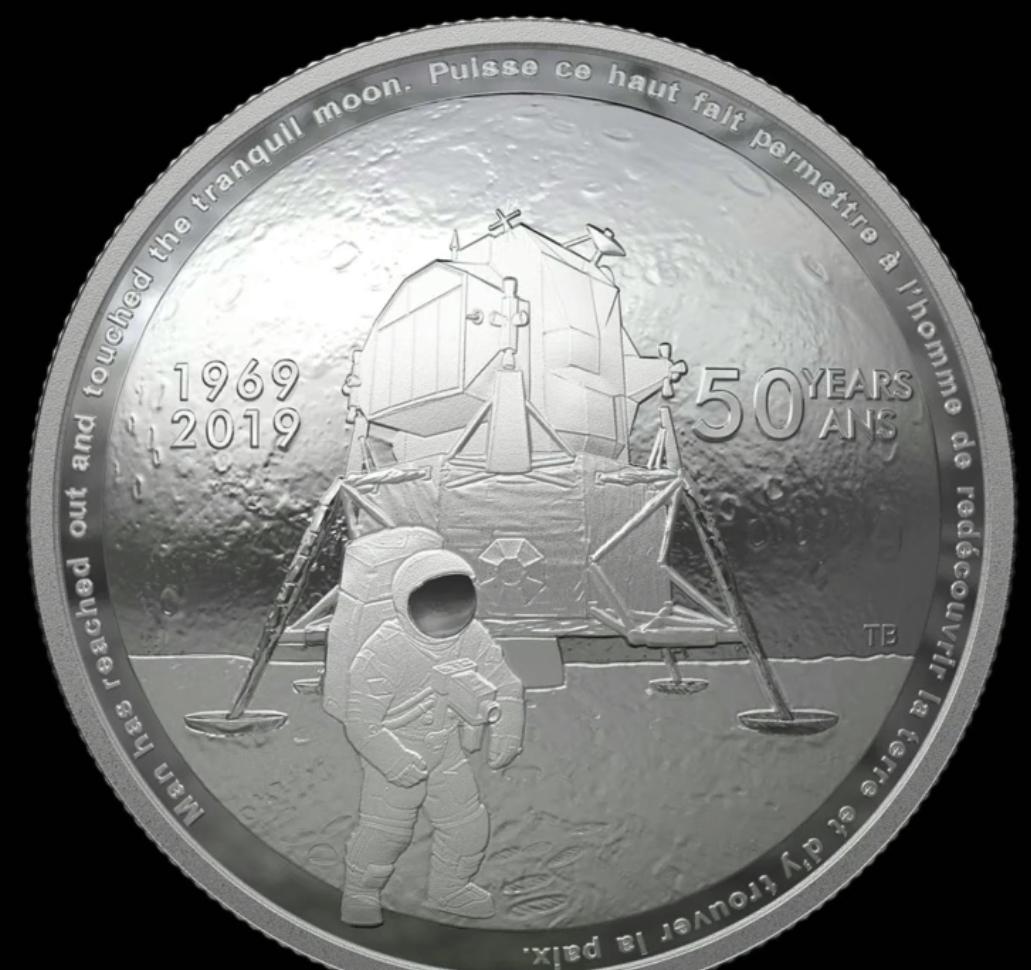 Apollo 11 50th anniversary $25 fine sliver coin