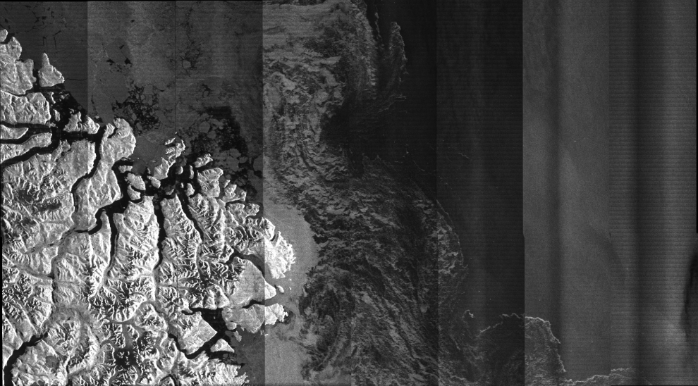 First engineering image captured by an RCM satellite