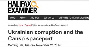 Halifax Examiner November 12, 2019 headline