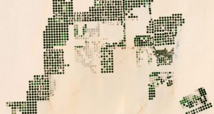 Landsat image of agricultural land in Egypt