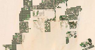 Landsat image of agricultural land in Egypt