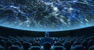 Interior of a planetarium theatre