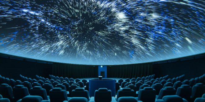 Interior of a planetarium theatre