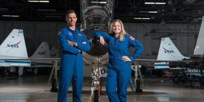 Canadian astronauts Josh Kutryk and Jenni Sidey-Gibbons