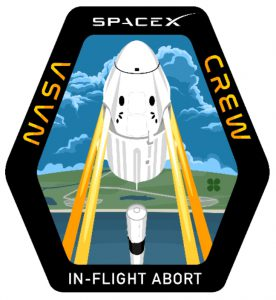 SpaceX Crew Dragon in-flight abort test patch.