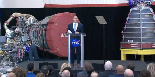 NASA Administrator Jim Bridenstine delivering his State of NASA and Fiscal Year 2021 budget