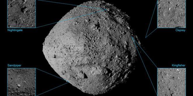 OSIRIS-REx - Asteroid Bennu sample site finalists.