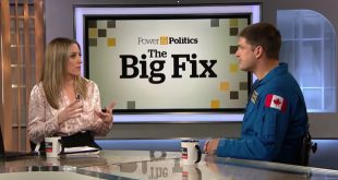 The CBC's Power and Politics host Vassy Kapelos interviews Jeremy Hansen on climate change and solutions from space