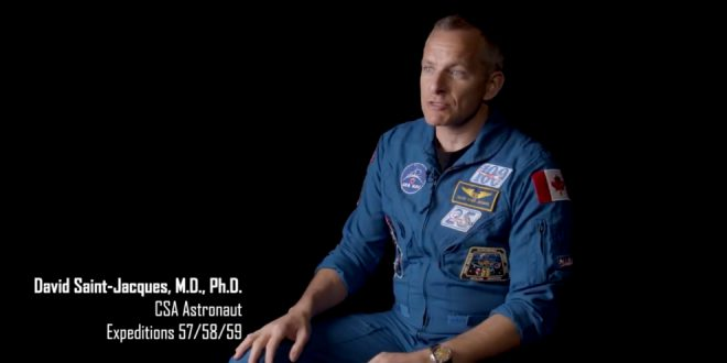 David Saint-Jacques Featured on NASA's Down to Earth – Shining Oasis Series