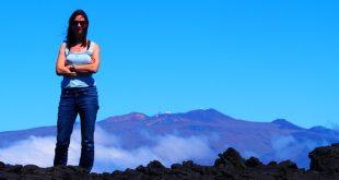 Sara Seager at Mauna Loa, Hawaii